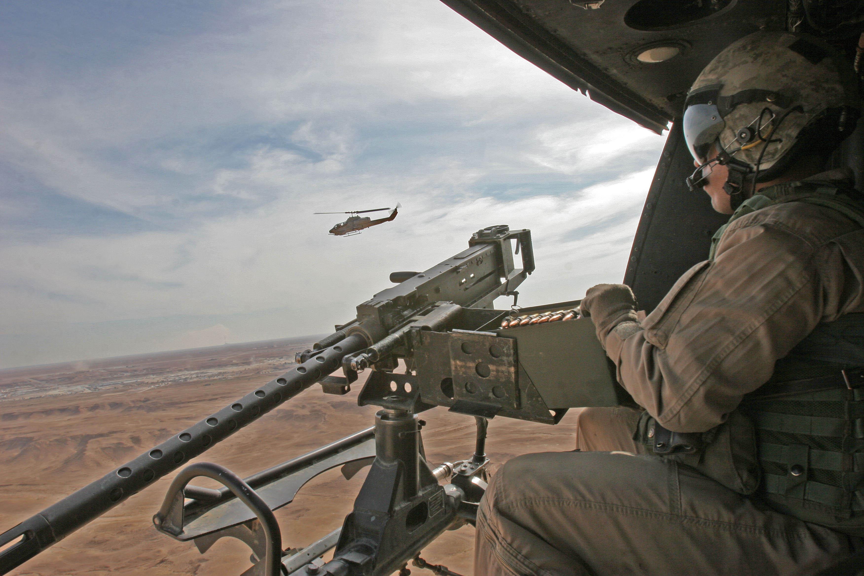 U.S. Marine Corps Sgt. Jacy Alexander, a UH-1N Huey crew ...
