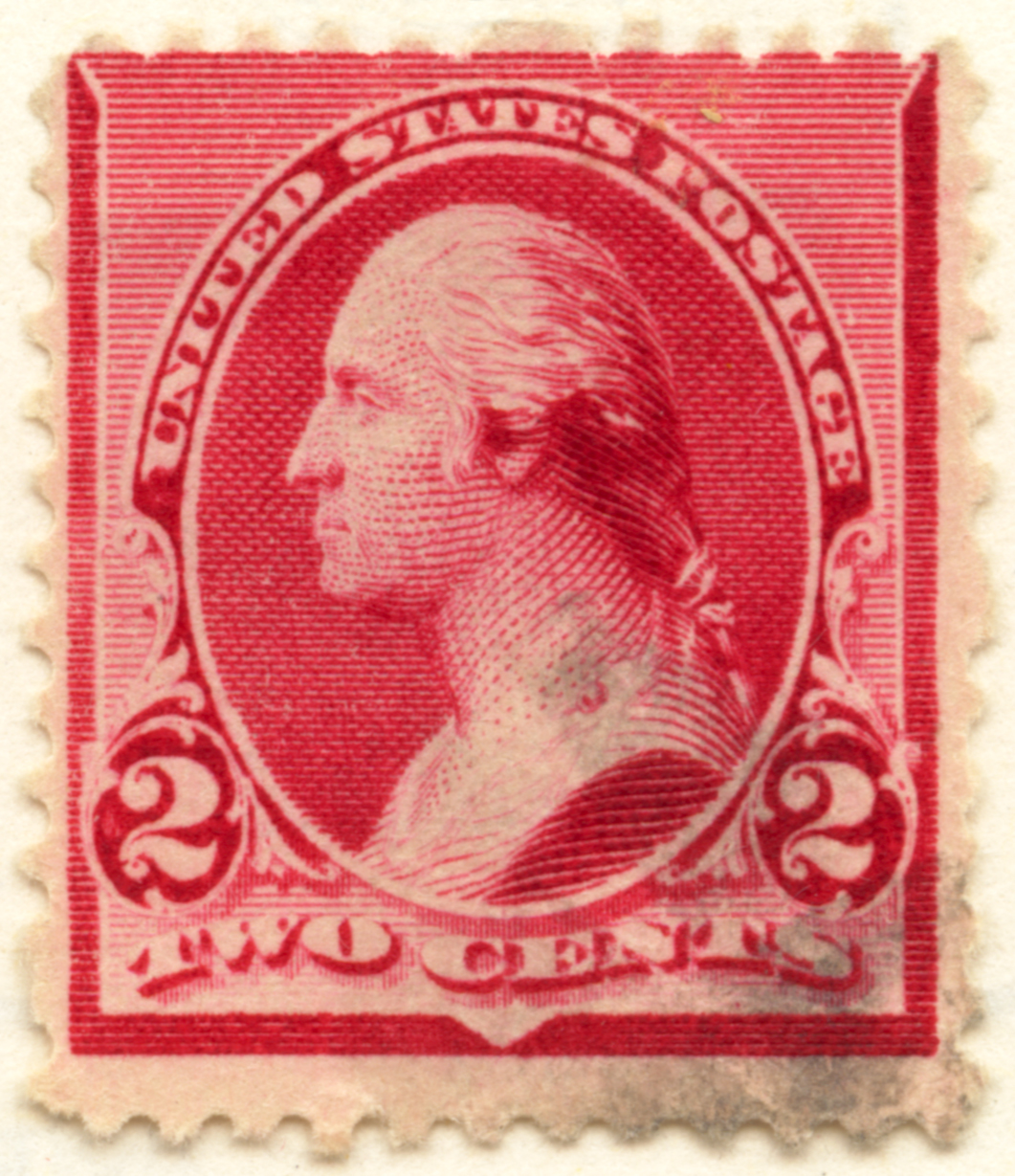 FileUS Stamp 1890 2c Washington A