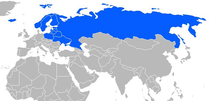 Afbeelding van de wodka drinkende landen