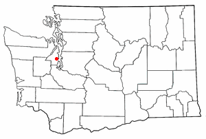 Location of Bremerton, Washington