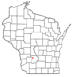 Location of Ironton (town), Wisconsin