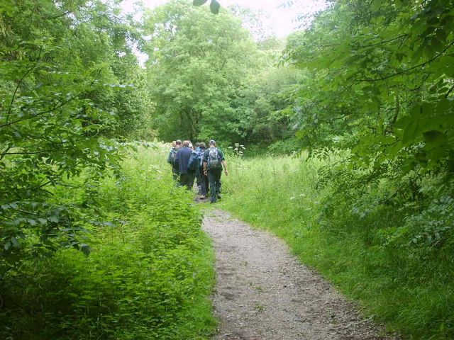 Walkers in Tideswell Dale - geograph.org.uk - 500263