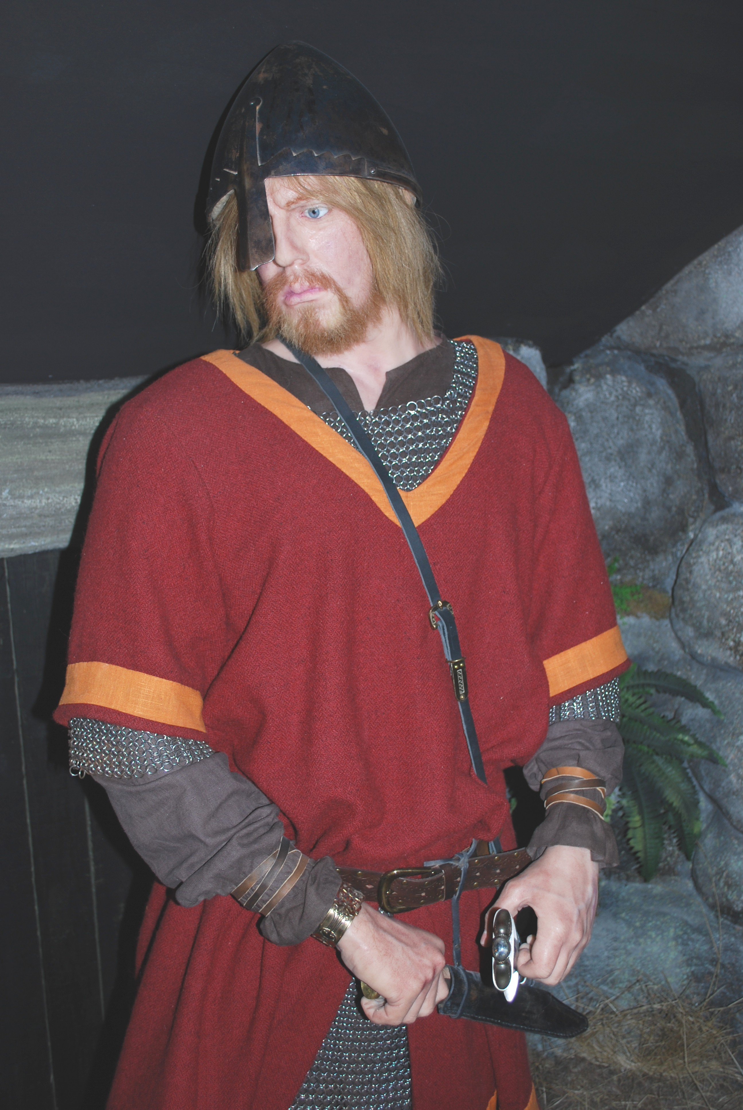 Wiking in the wax museum.