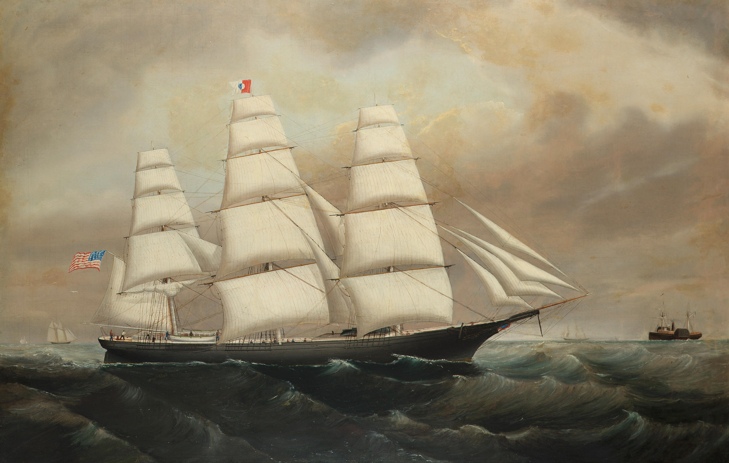 file william howard yorke circle of the american clipper red