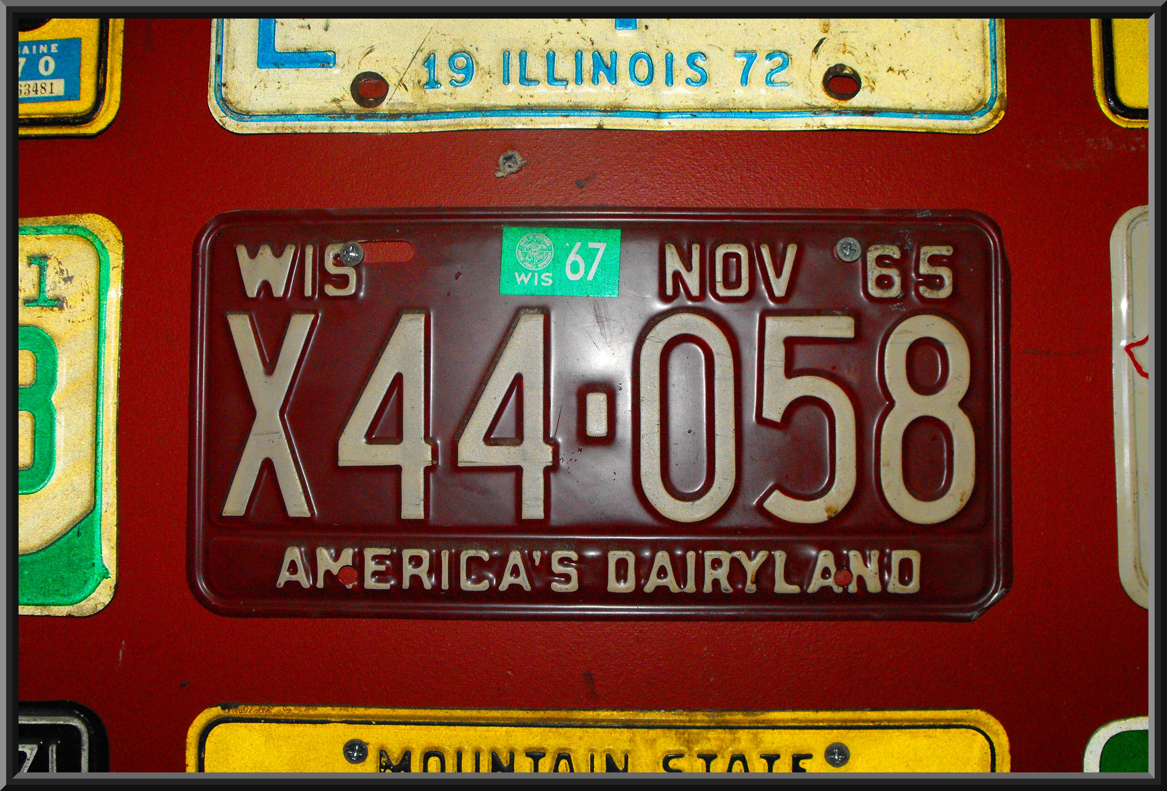 File:Wisconsin 1967 license plate.jpg - Wikimedia Commons