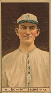 Chief Wilson of the Pittsburgh Pirates set the all-time record for triples in a season with 36 in 1912.
