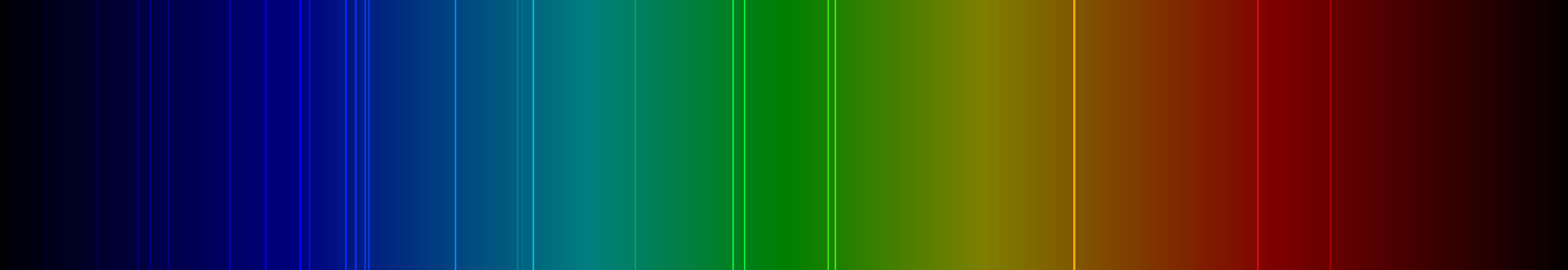 Color lines in a spectral range