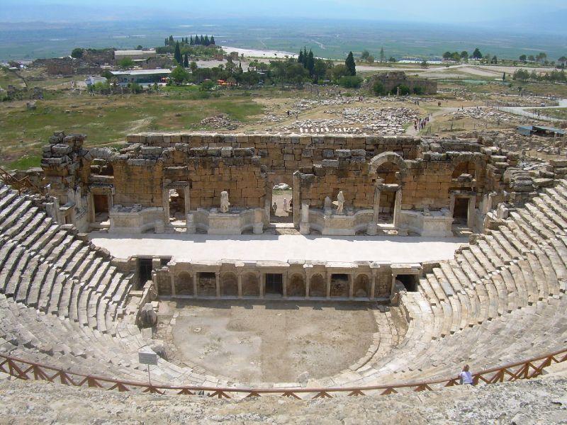 File:Ancient Roman theatre in Hierapolis (6).jpg - Wikimedia Commons