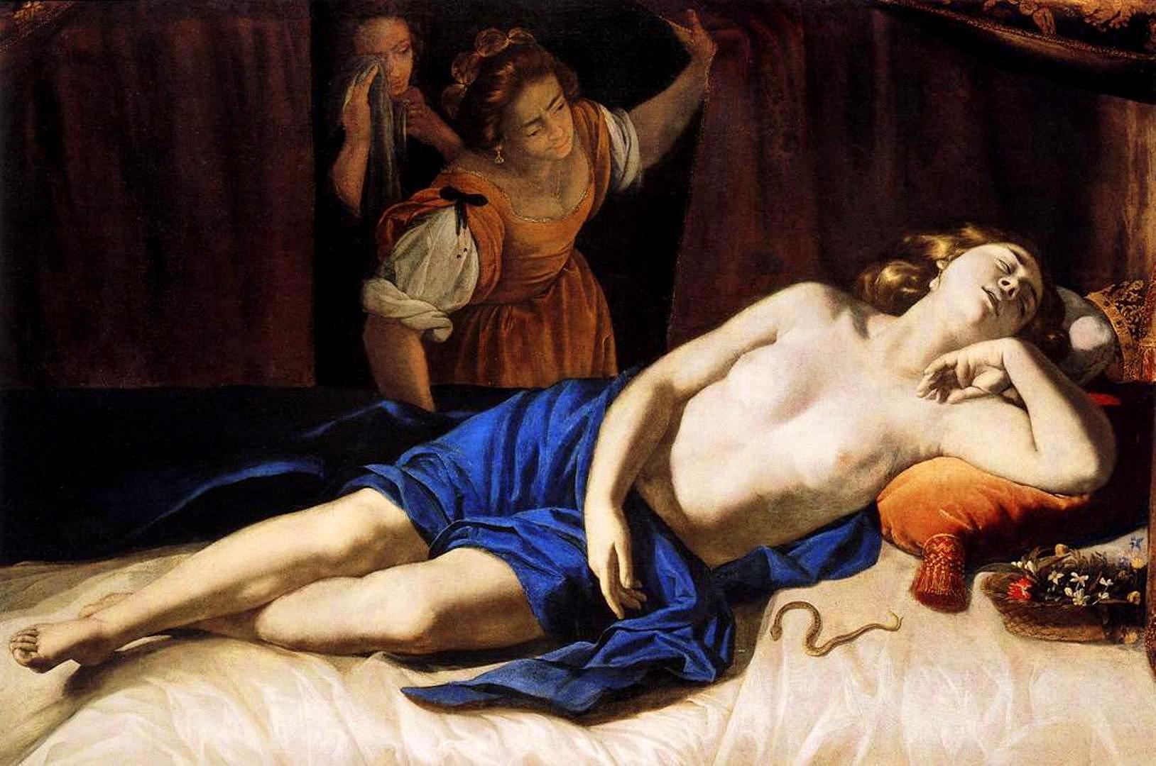 Resultat d'imatges de cleopatra artemisia gentileschi