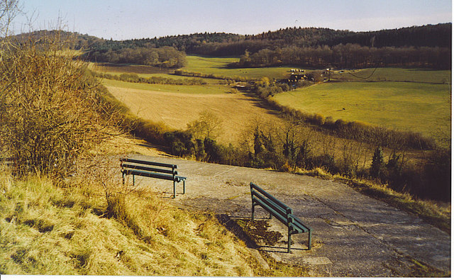Benches on Pewley Down. - geograph.org.uk - 140708