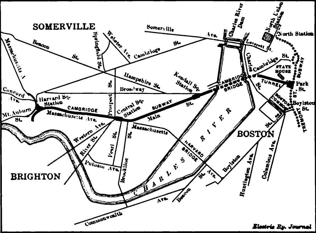 Filecambridge Subway 1912 Map With Surface Connections