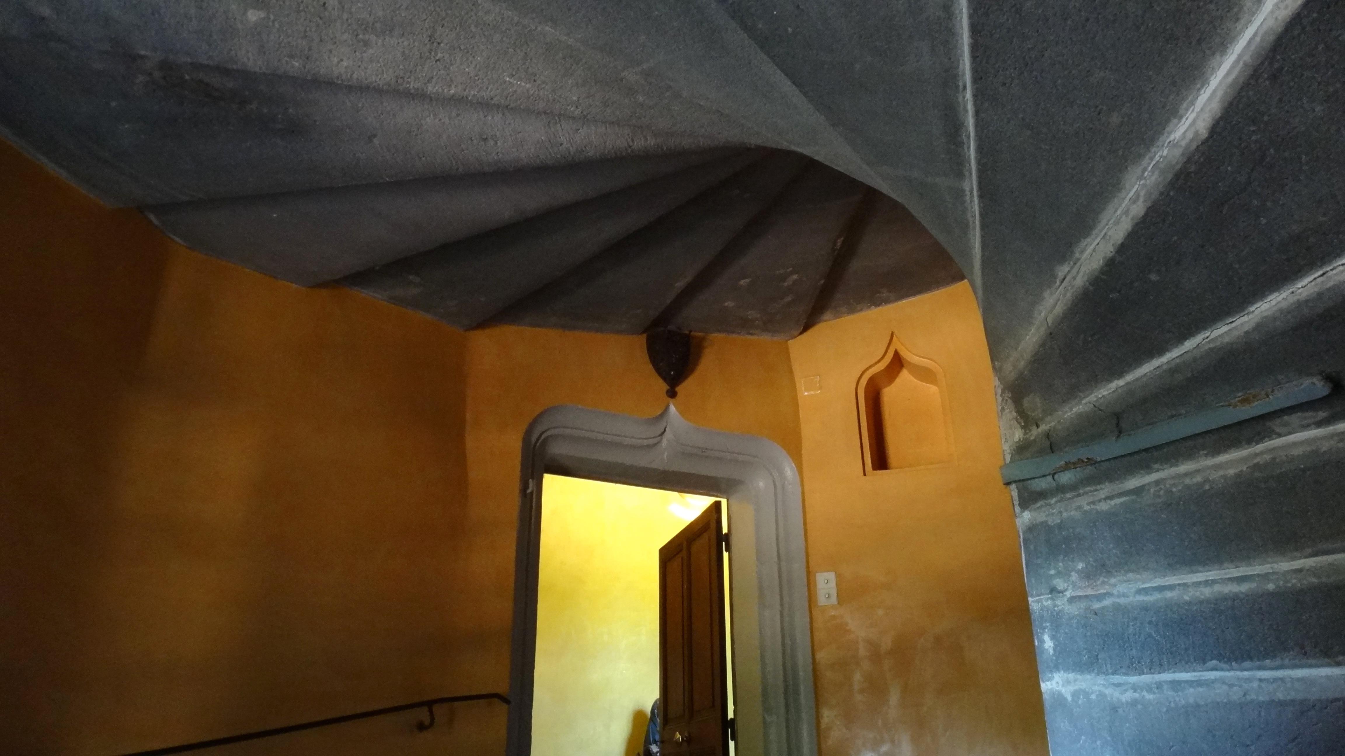 file ch teau de la chassaigne thiers escalier en vis jpg wikimedia commons. Black Bedroom Furniture Sets. Home Design Ideas