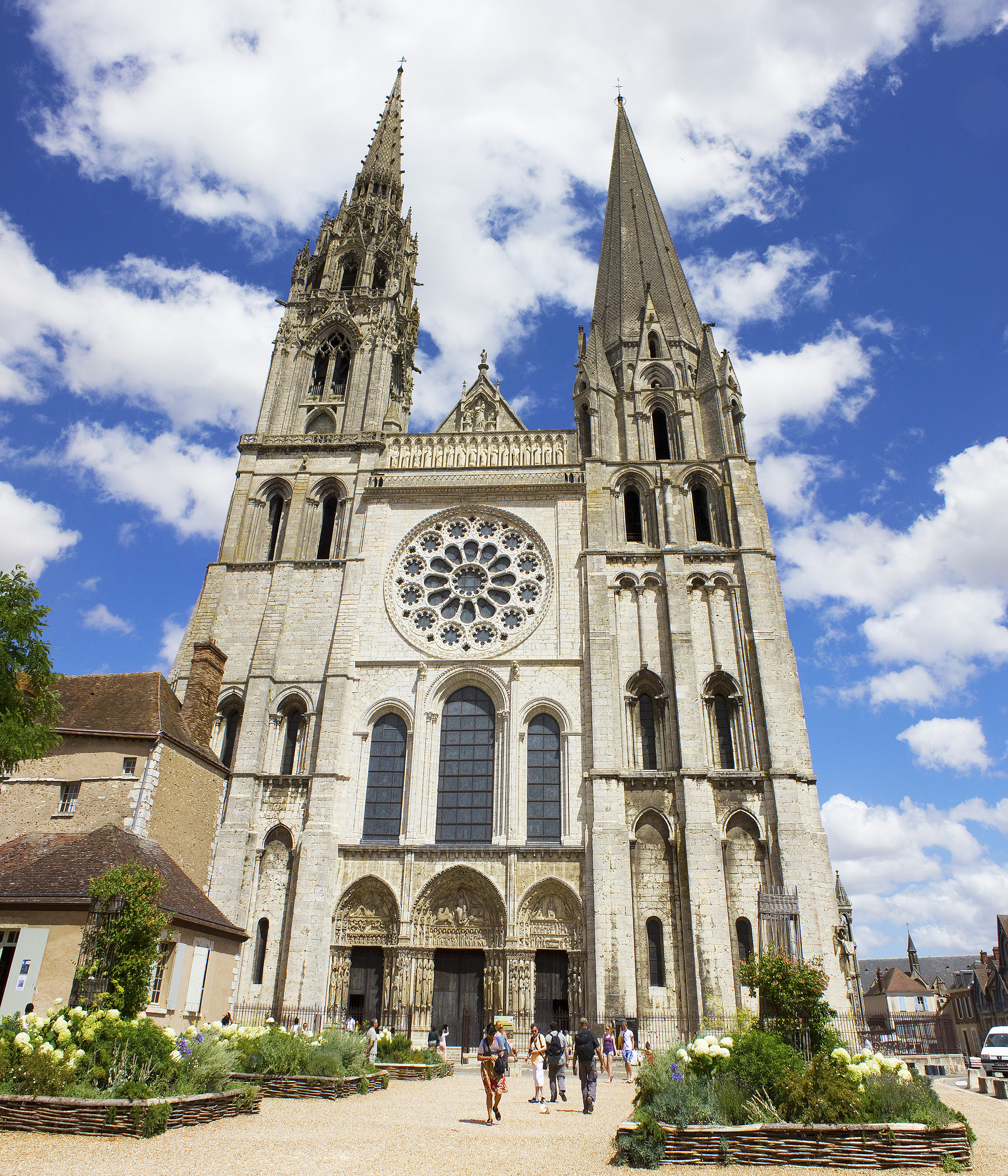 Chartres Cathedral West Facade File:chartres Cathedral West
