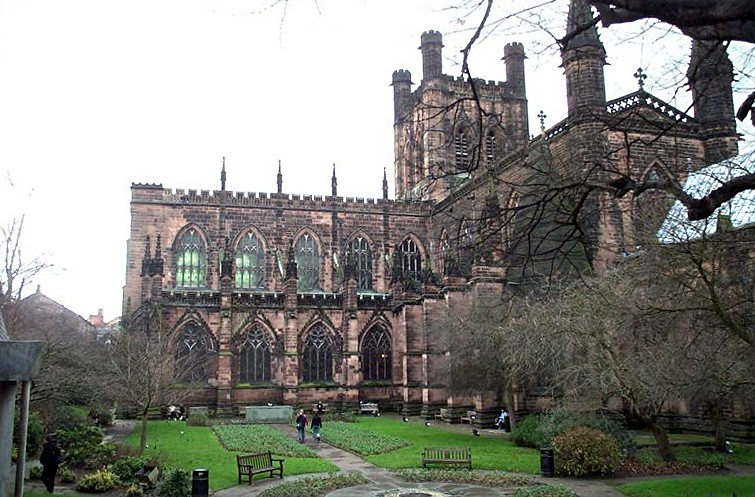 Chester Cathedral exterior adjusted
