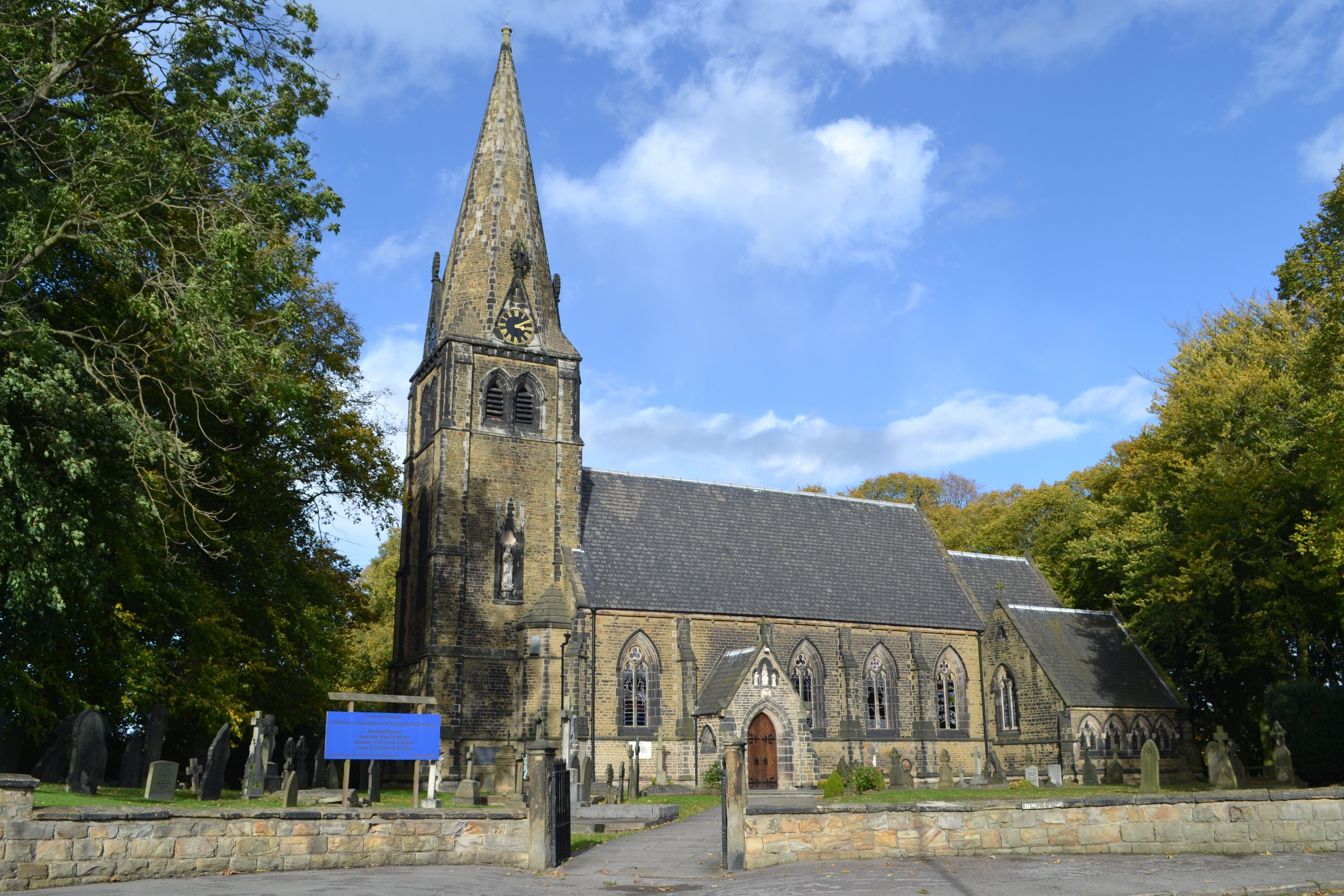 College Of St Joseph >> Church of the Immaculate Conception, Spinkhill - Wikipedia
