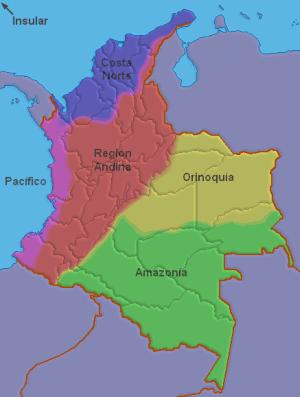 Image:Colombia (regiones naturales)