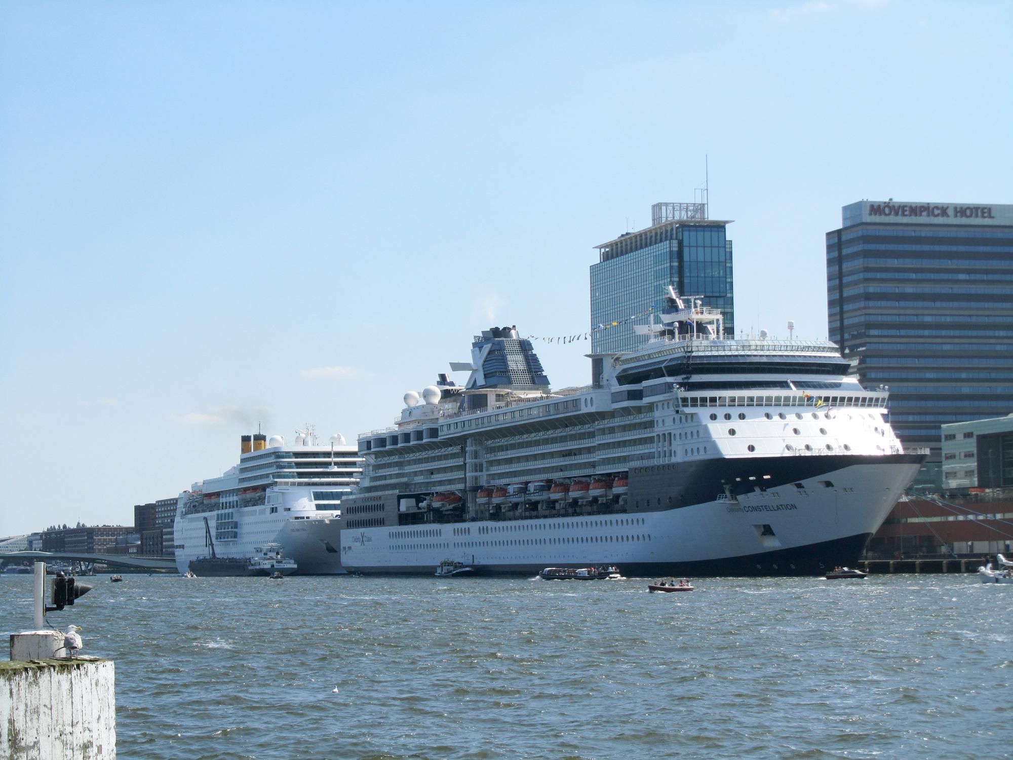 FileCruise Ships Constellation And Costa Neoromantica Passenger Terminal Amsterdam.jpg ...