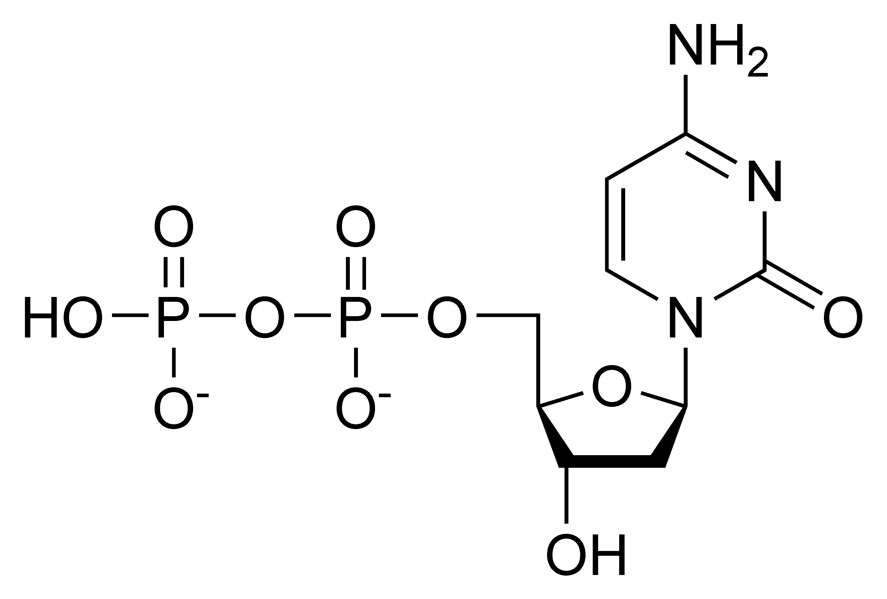 Chemical structure of deoxycytidine diphosphate