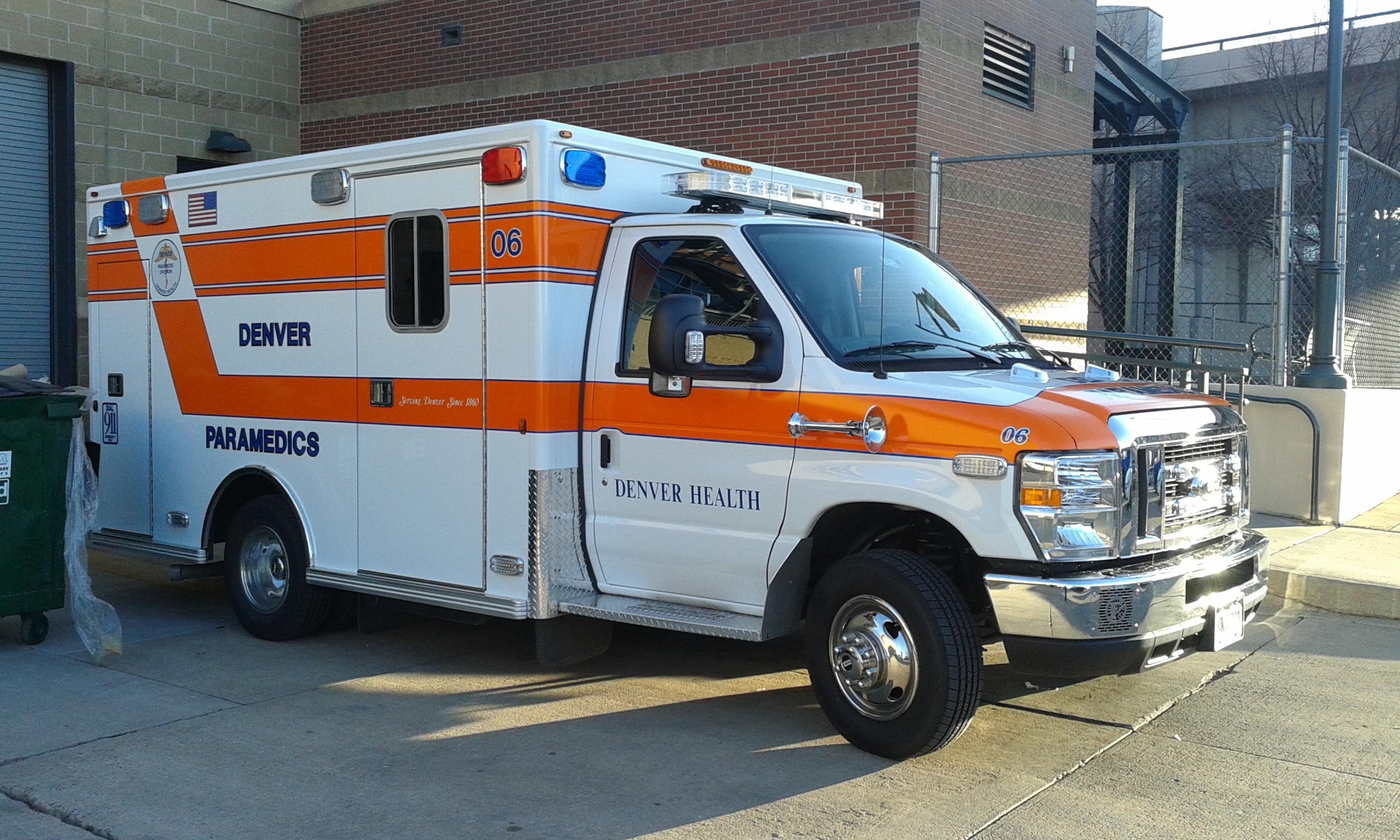 File:Denver Health Paramedics ambulance, Coors Field.jpg ...