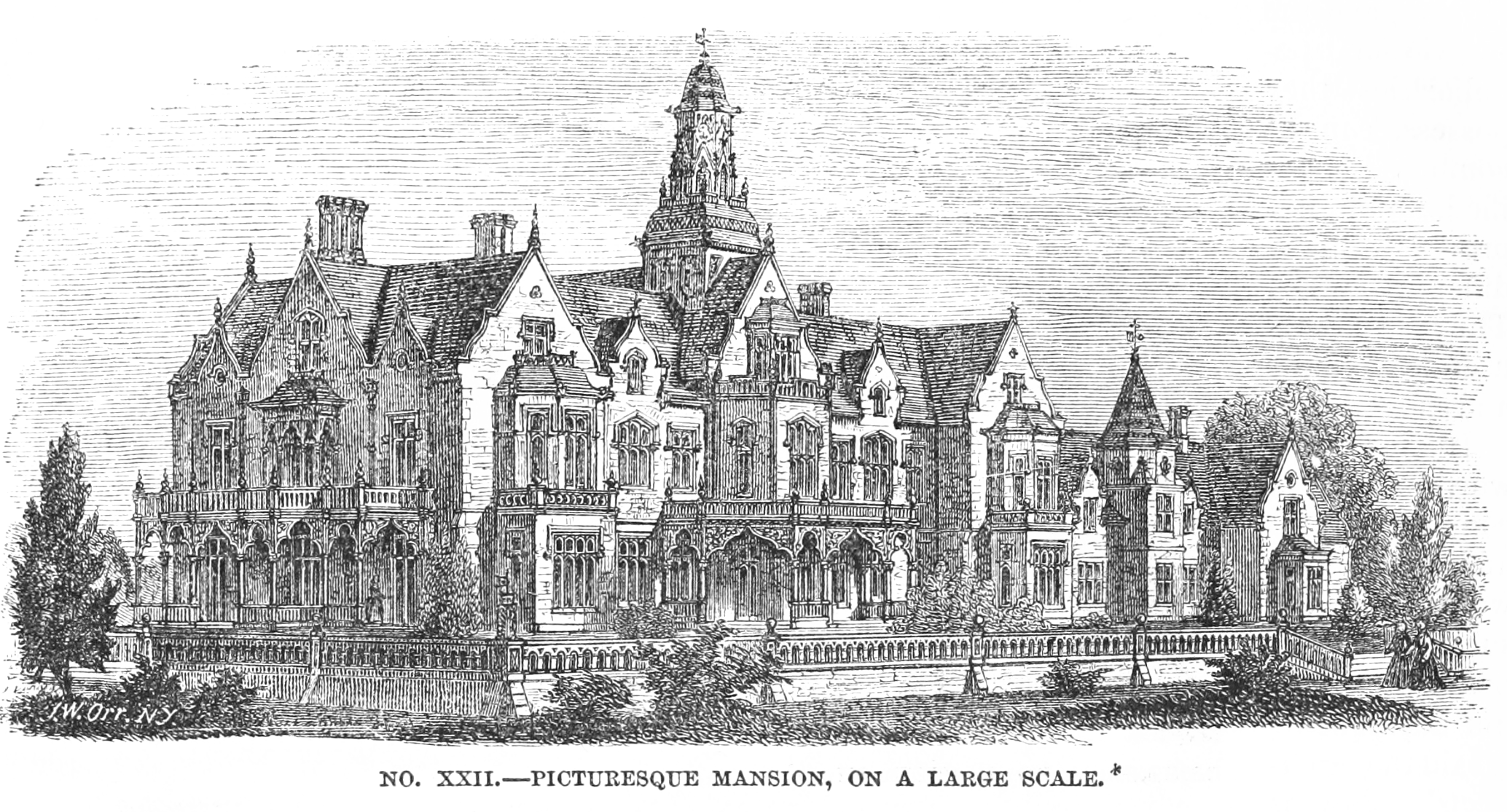 FileDesign For A Picturesque Mansion On Large Scale By Calvert Vaux Exterior
