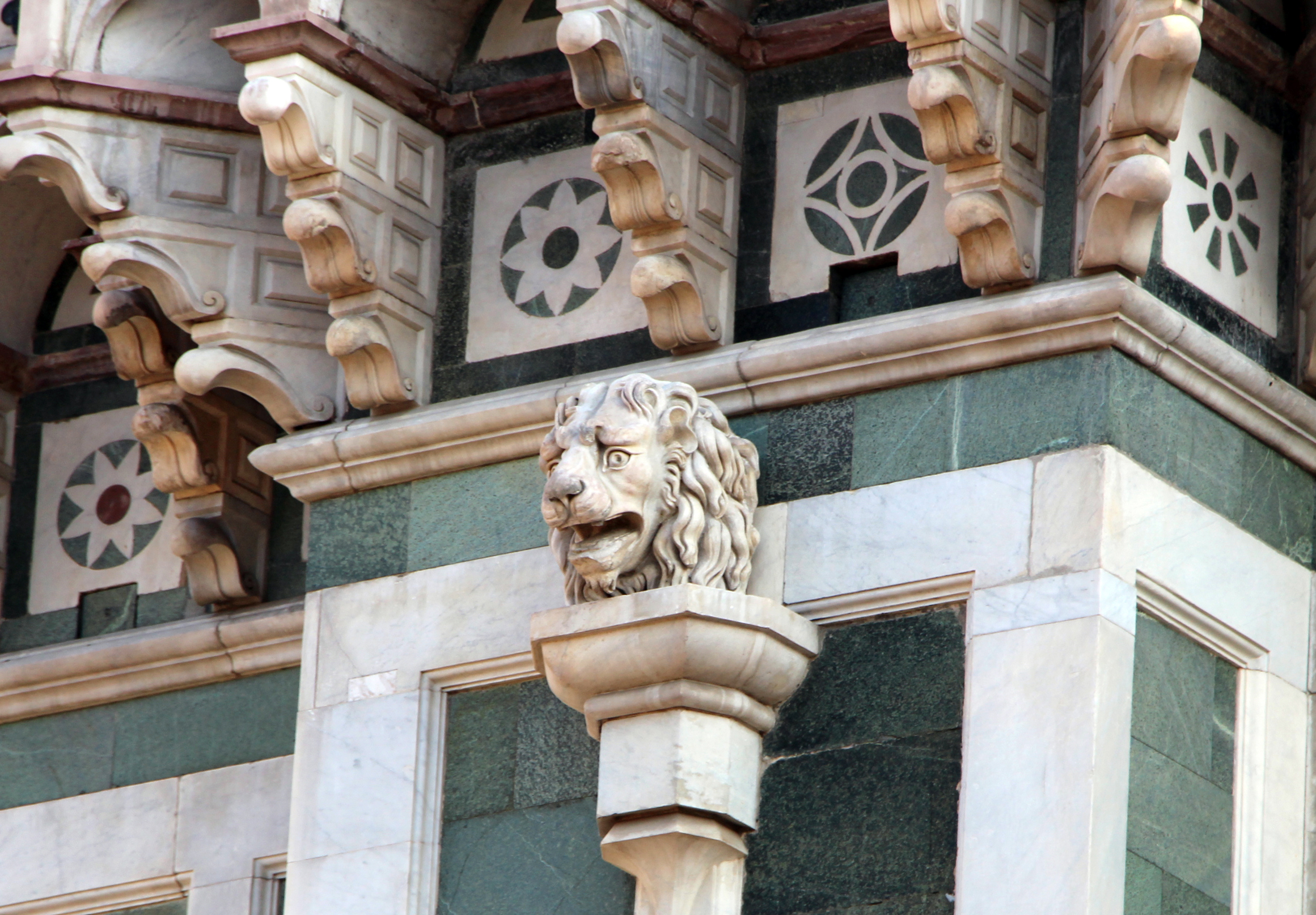 File Duomo Di Firenze Da Terrazza In P Duomo Doccione 03