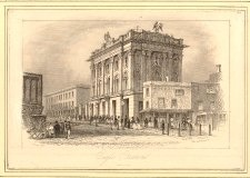 The Eagle Tavern, an early venue for Lloyd's solo performances Eagle Tavern in 1841.jpg