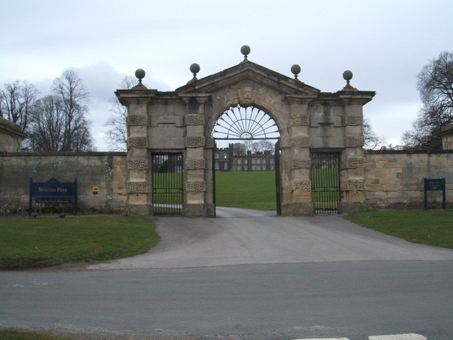 Entrance to Swinton Park Hotel - geograph.org.uk - 1222139