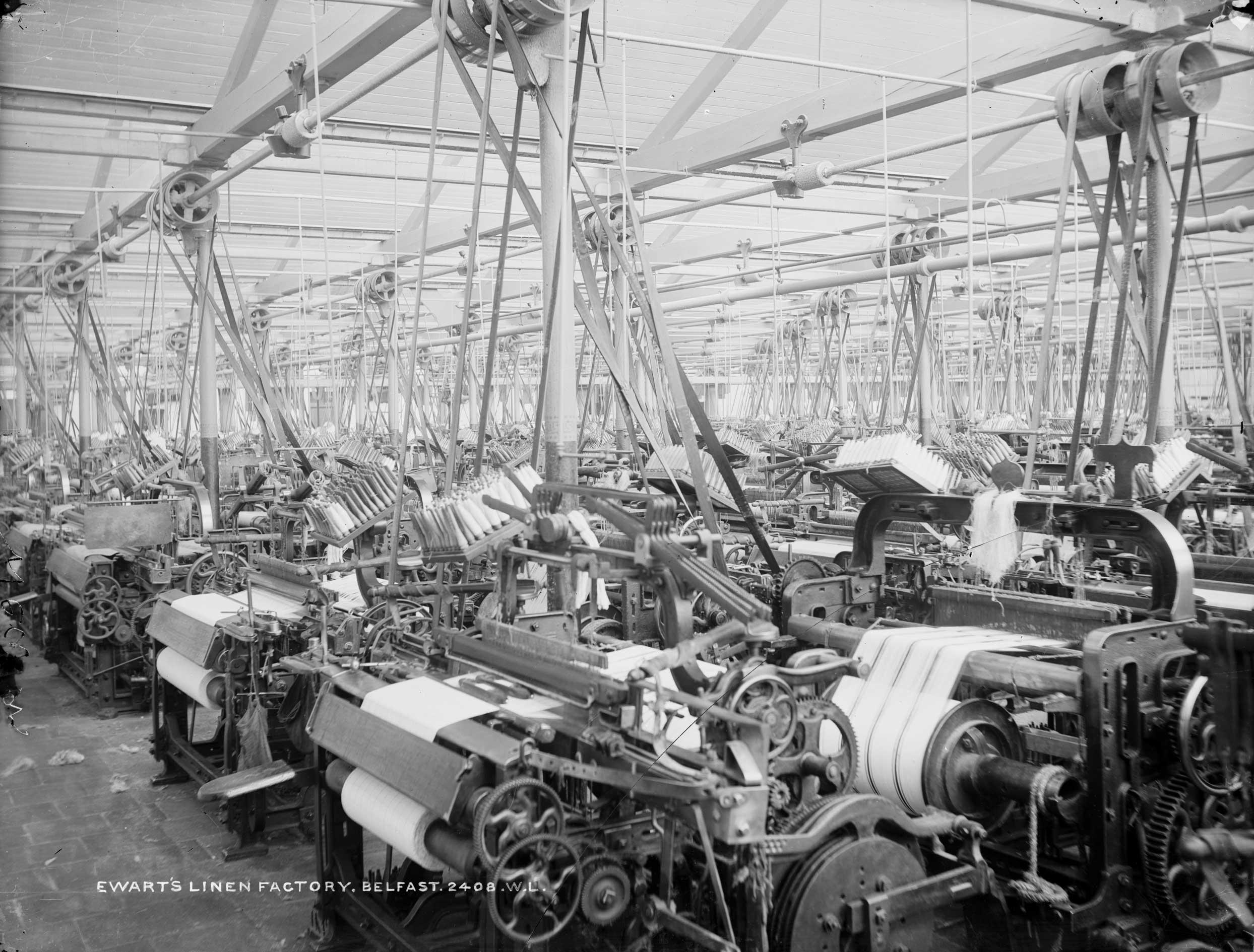 Ewart's Linen Factory, Belfast, 1897. Adventures in Belfast