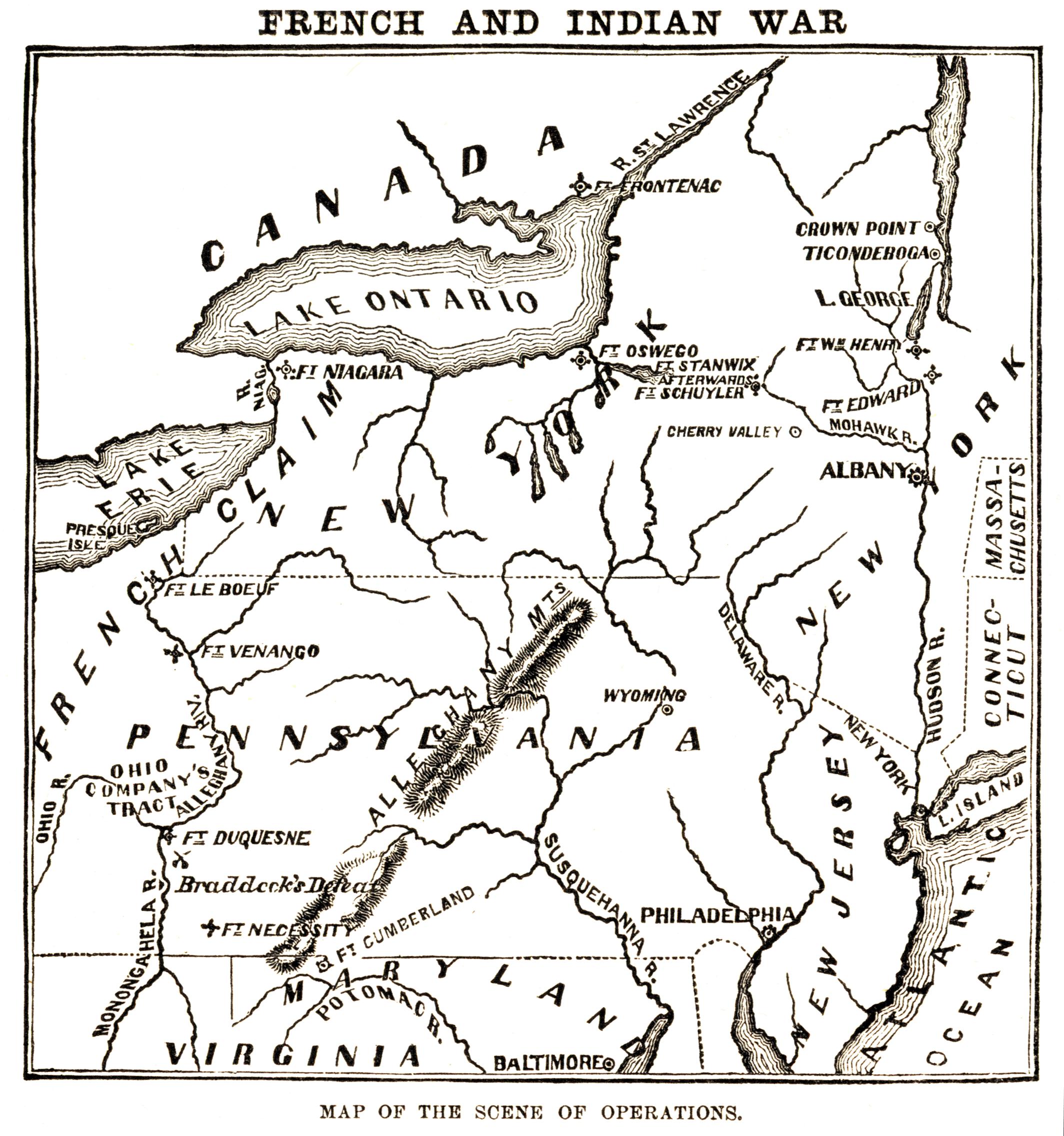 Depiction of Guerra franco-india