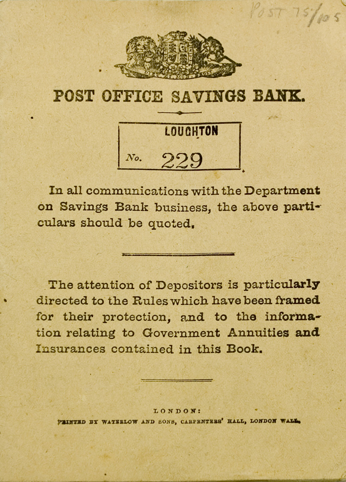 bank deposits posted