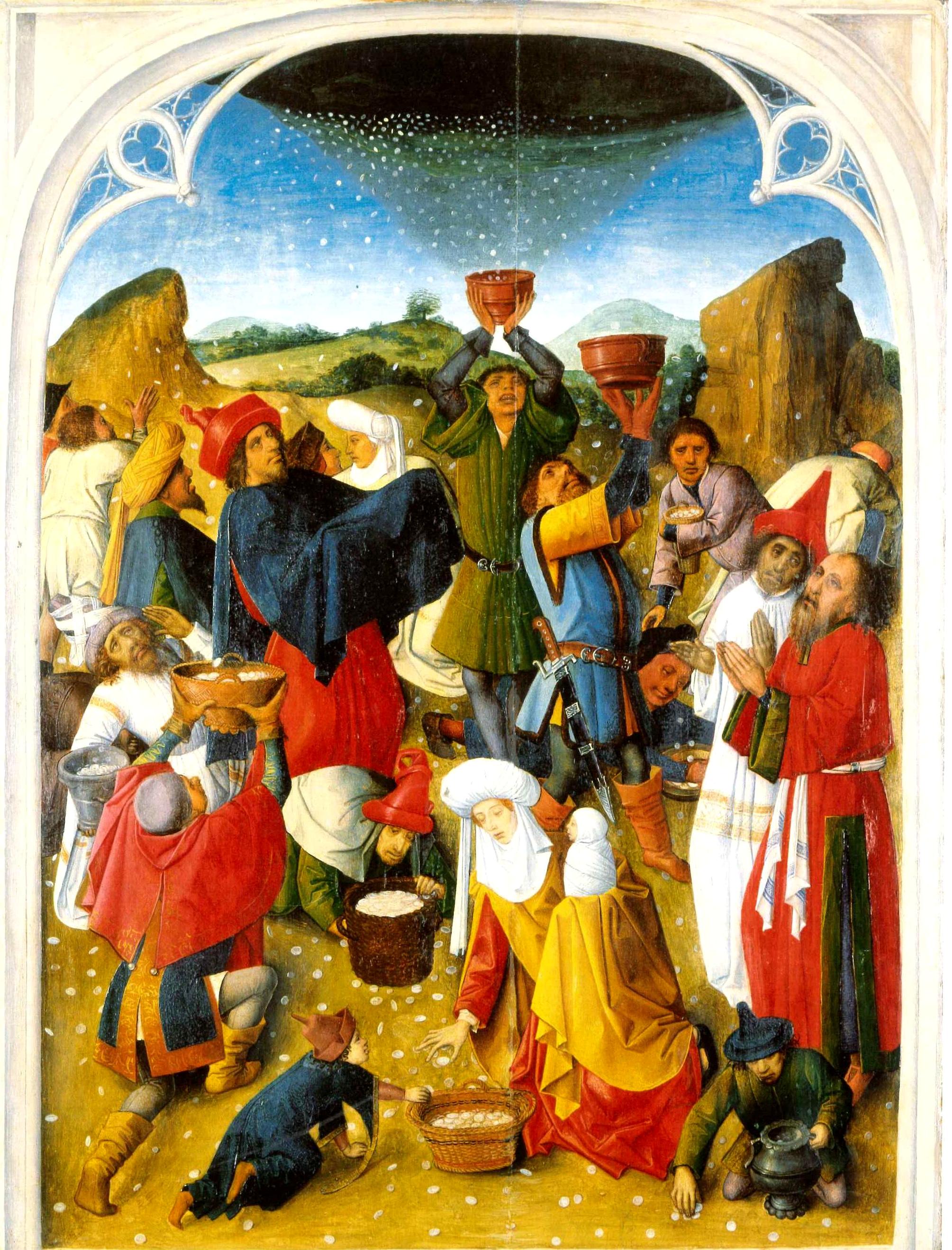 gathering manna or grumbling