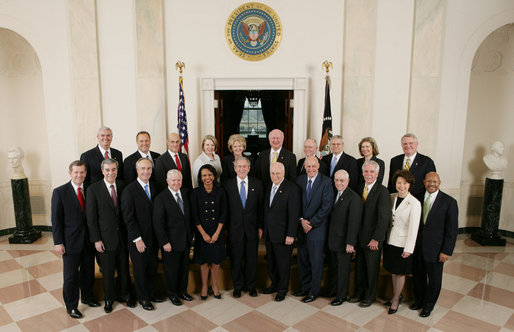 file:george w. bush cabinet 2008 - wikimedia commons