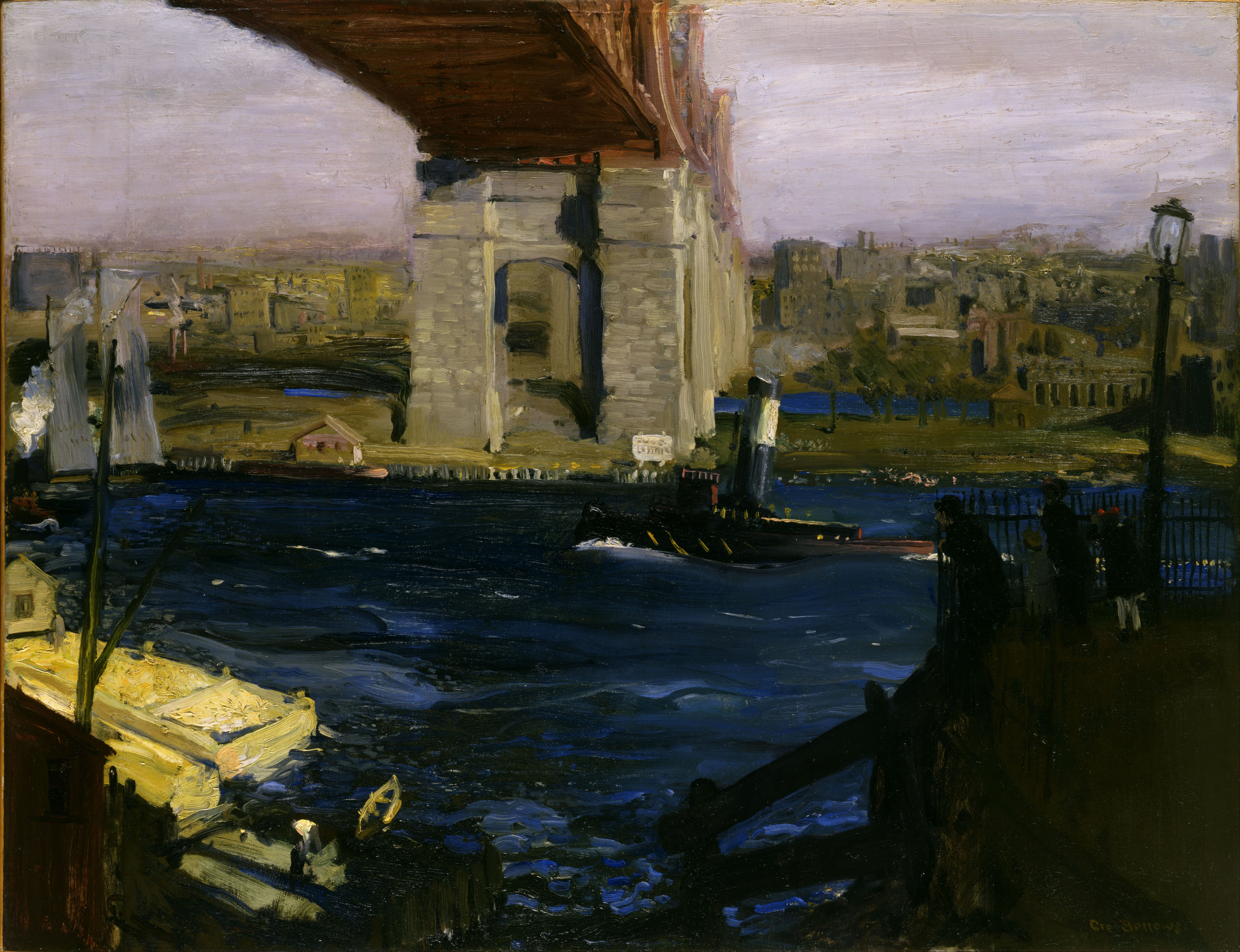 file george wesley bellows bridge blackwell s island google art wikimedia commons. Black Bedroom Furniture Sets. Home Design Ideas