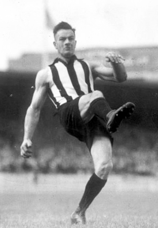 Gordon Coventry led the VFL in goal kicking six times. Gordon Coventry - unknown date - 1.jpg