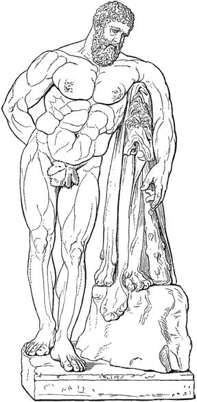 Herakles aus Band 8 von Hainleite bis Iriartea, Seite 398. Quelle Wikipedia