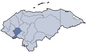 Location of Intibucá department