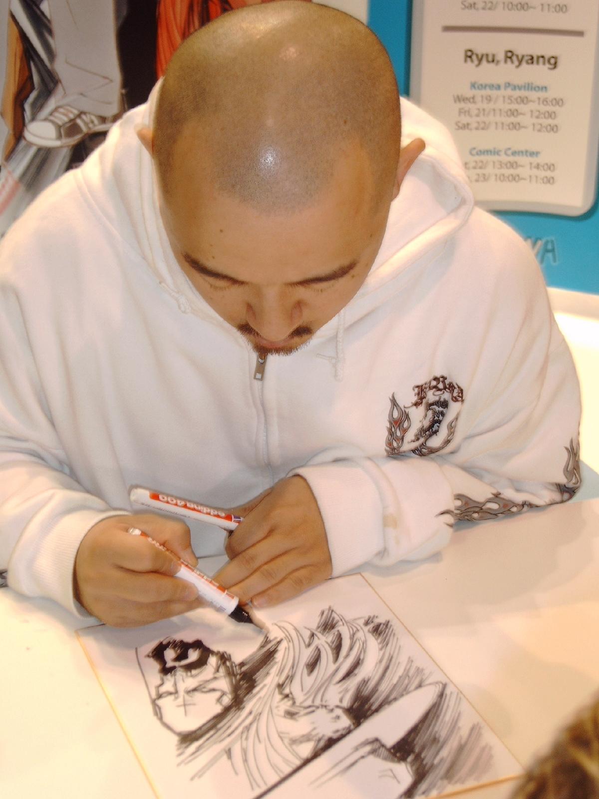 Hyung Min-woo in October 2005 at [[Frankfurt Book Fair]], [[Germany]]