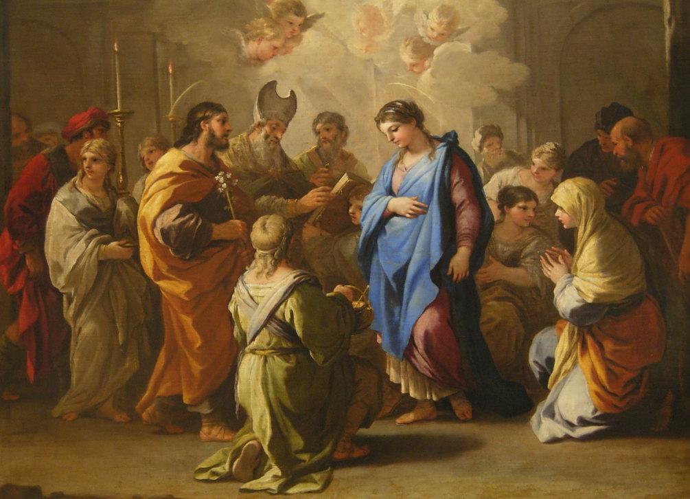 Matrimonio Romano En La Antiguedad : Sposalizio della vergine luca giordano wikipedia