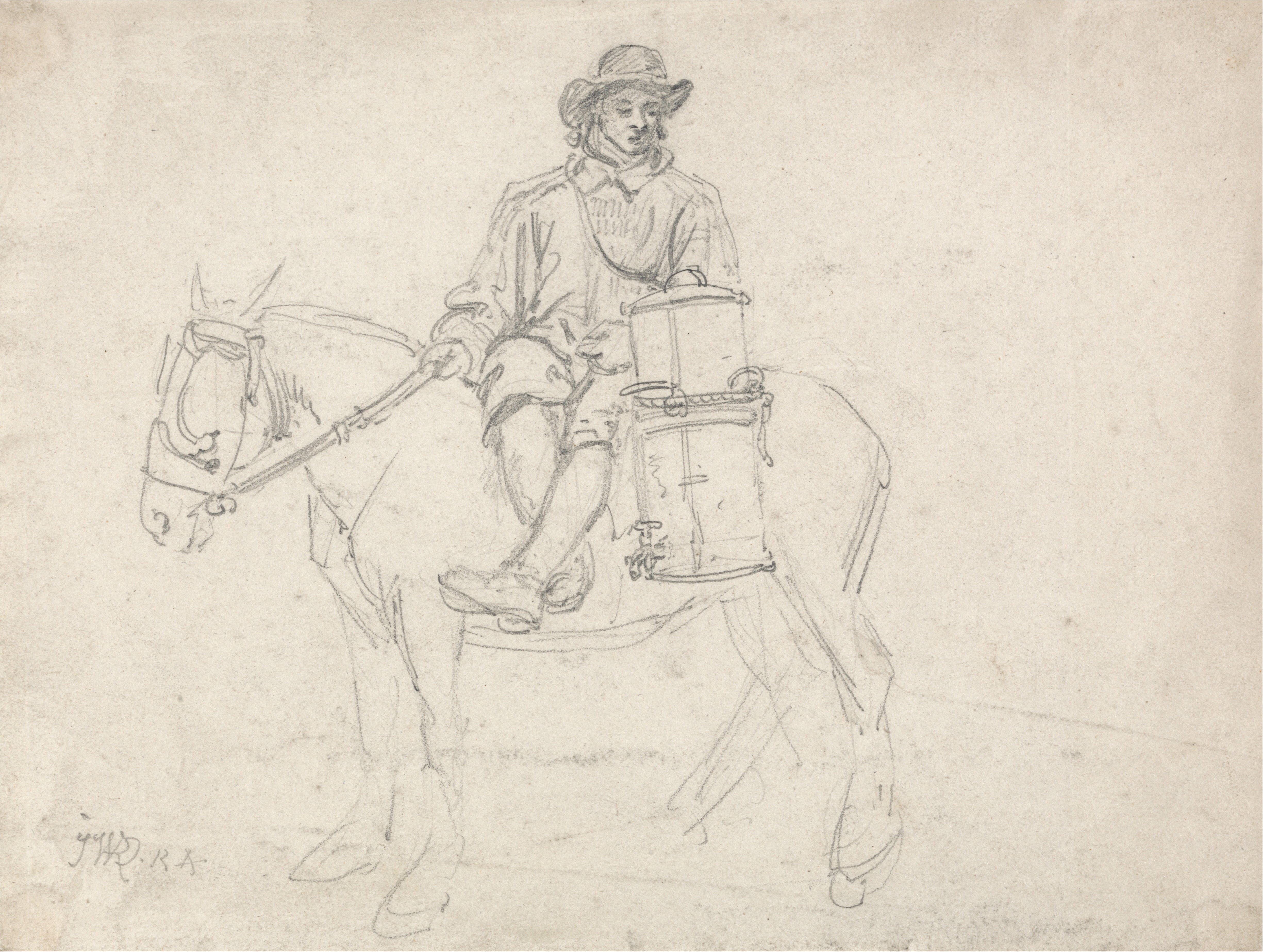 File:James Ward - A Farmhand Riding Side-saddle, Carrying an