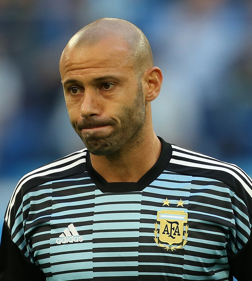 The 34-year old son of father (?) and mother(?) Javier Mascherano in 2018 photo. Javier Mascherano earned a  million dollar salary - leaving the net worth at 40 million in 2018