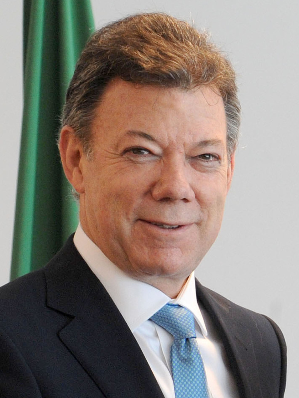 Juan Manuel Santos, president of Columbia since 2010 and 2016 Nobel Peace Prize winner. Photograph: Wilson Dias/Abr, derivative work: Coronades.