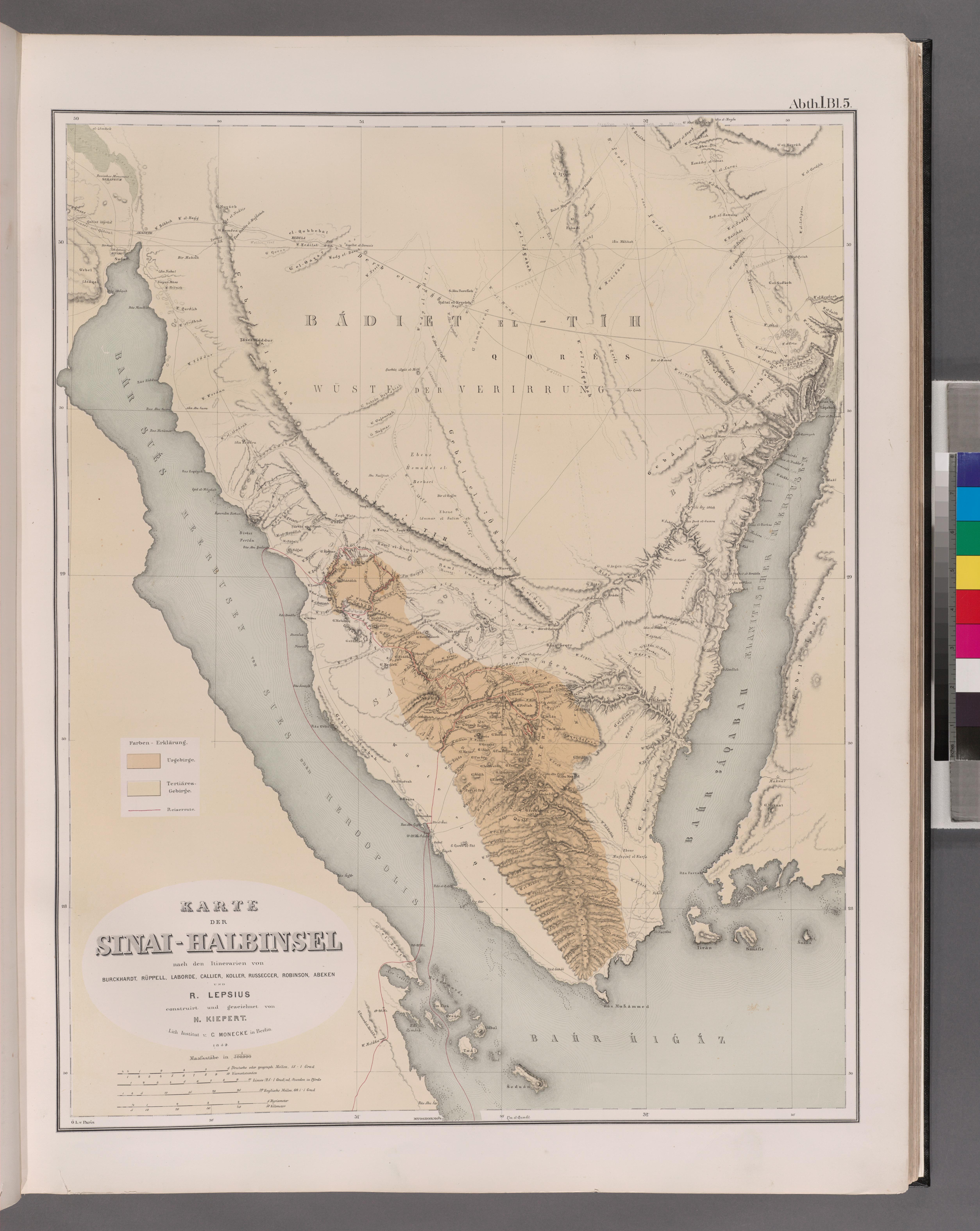sinai halbinsel karte File:Karte der Sinai Halbinsel (NYPL b14291191 37508).