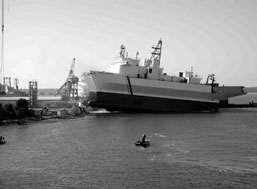 Launch of the U.S. Navy-constructed R/V Kilo M...