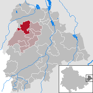 Kriebitzsch Place in Thuringia, Germany