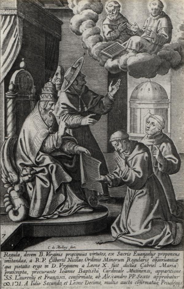 Pave Leo X approberer Gabriel Marias regel