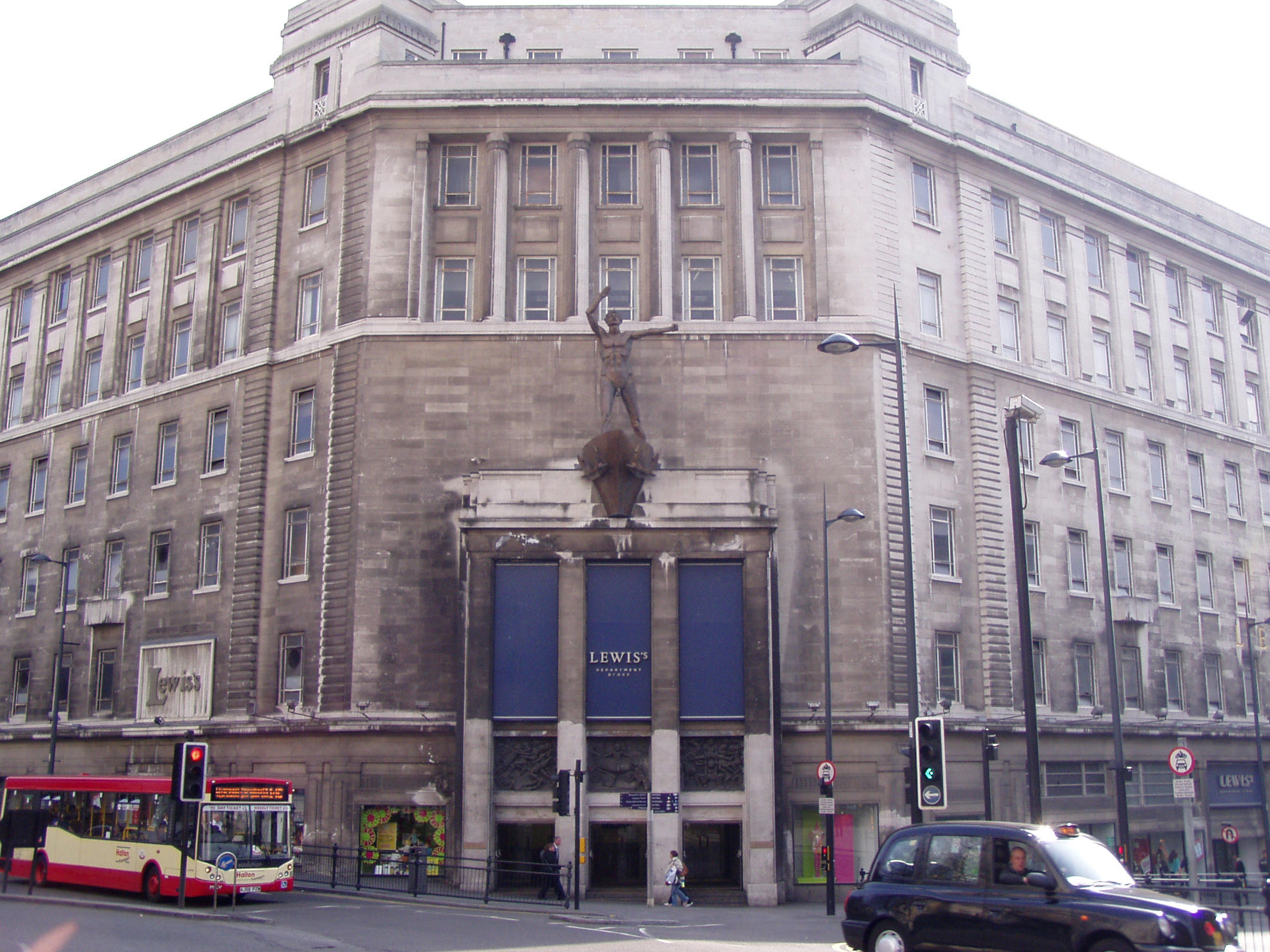 The corner entrance of Lewis's Department Store, Ranelagh Street, Liverpool
