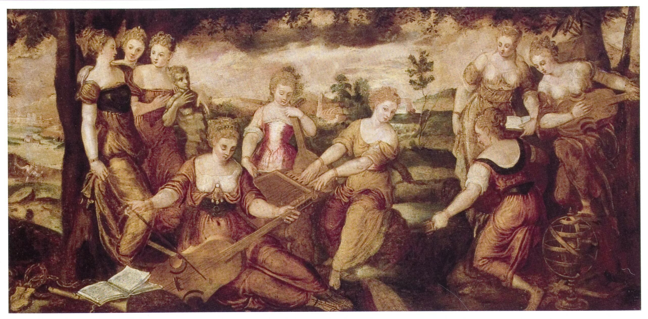 Another painting of the Muses of Greek mythology