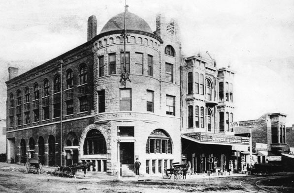 The 1886 Times building, northeast corner 1st/Broadway