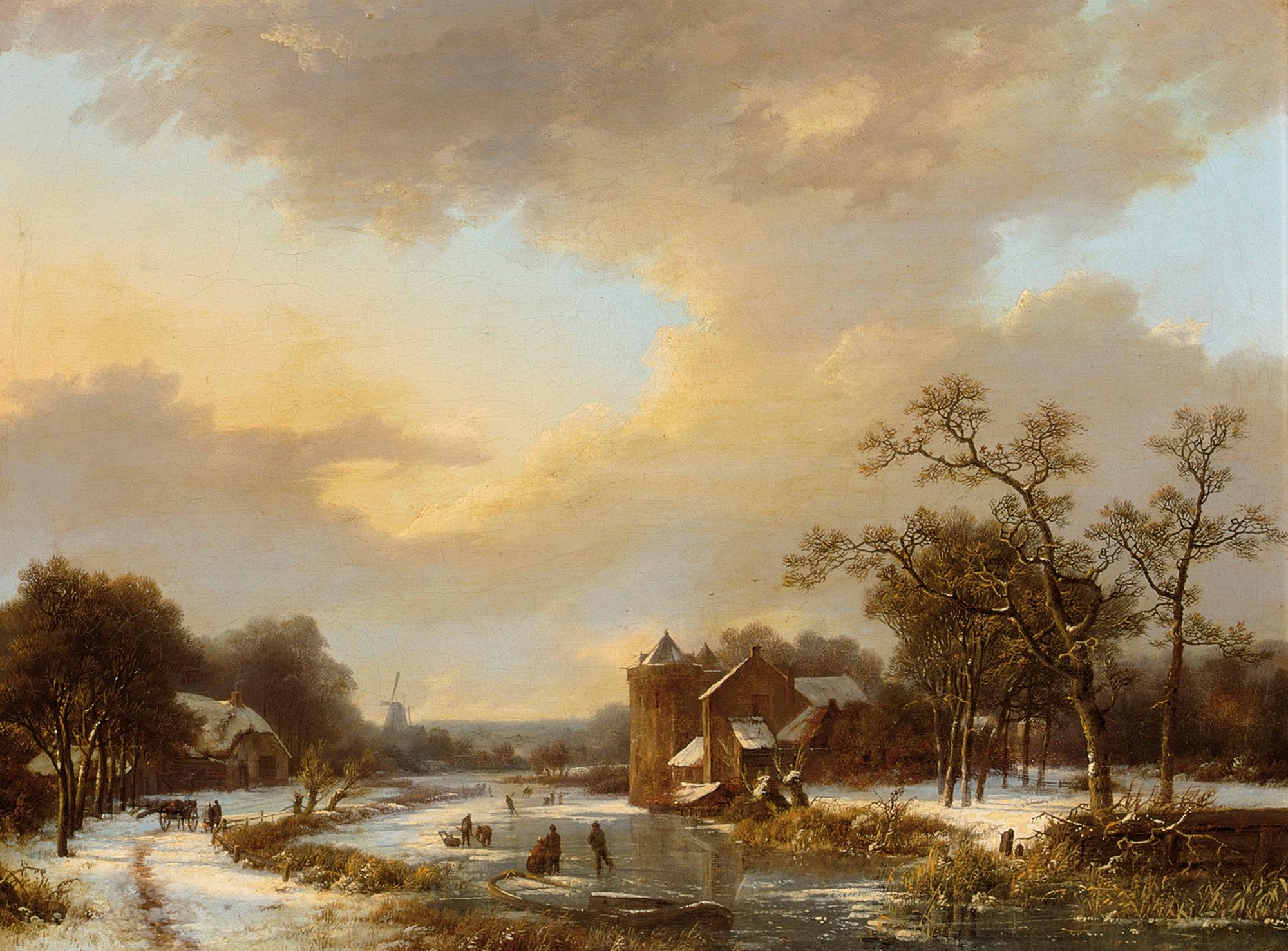 File:Marinus Adrianus Koekkoek - An extensive Dutch river ...