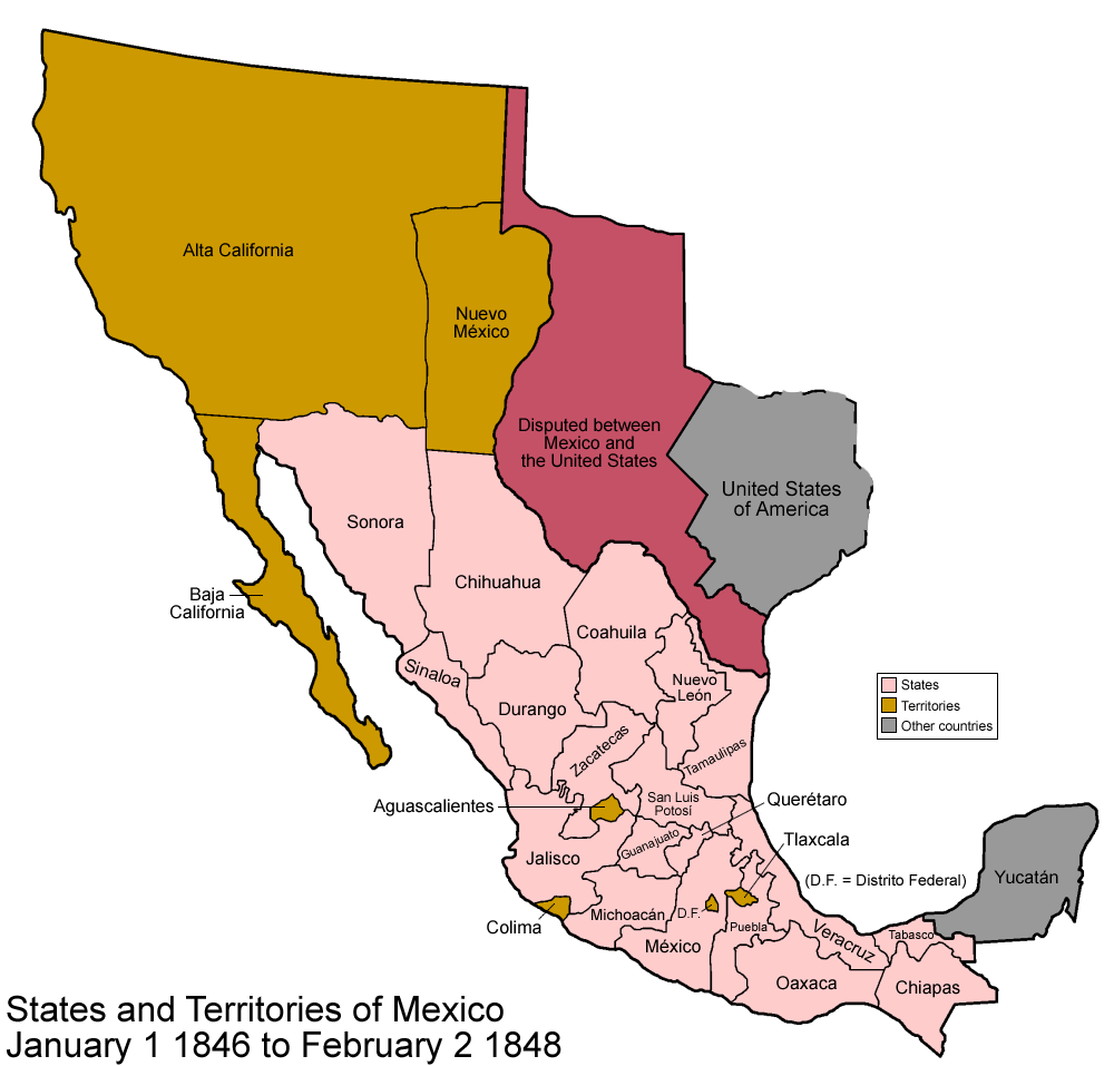 FileMexico To Png Wikimedia Commons - Map of us in 1848